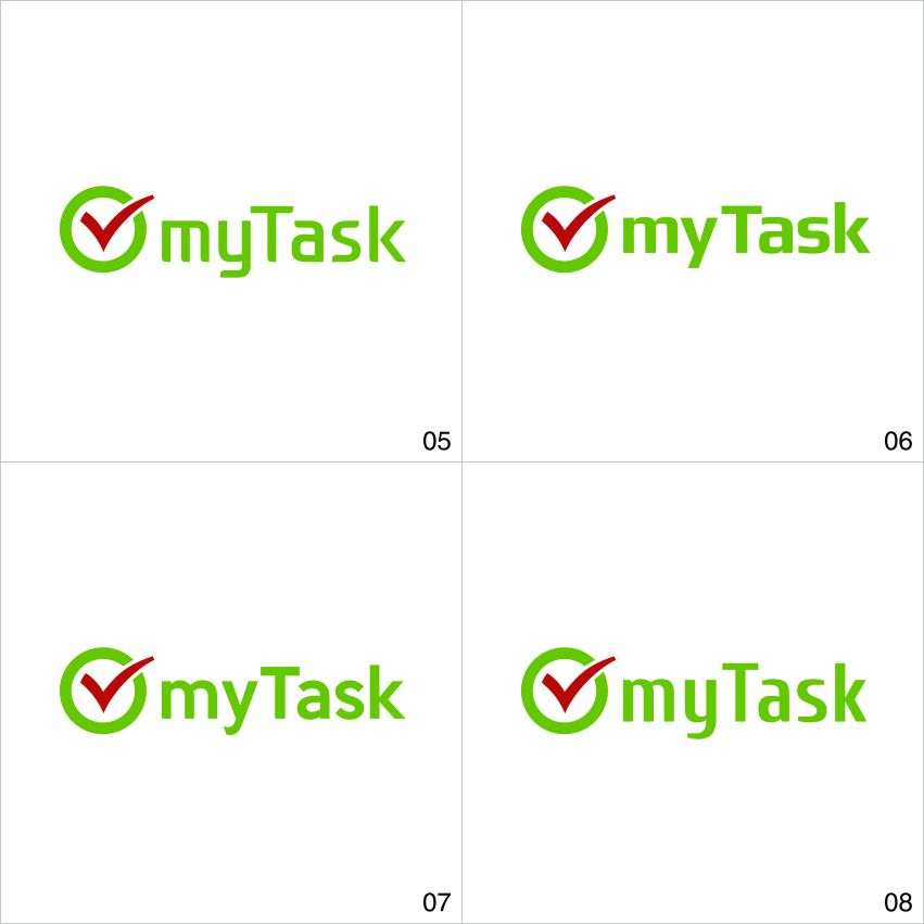 Доработка логотипа компании myTask - дизайнер axe-paradigma