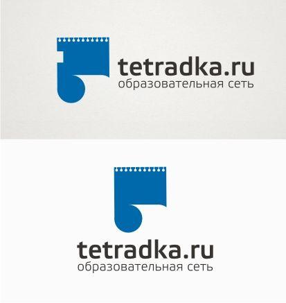 Логотип для образовательной сети tetradka.ru - дизайнер F-maker