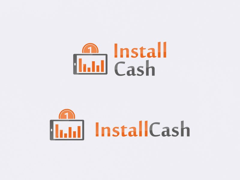 Логотип для партнерской программы InstallCash - дизайнер Zhe_ka