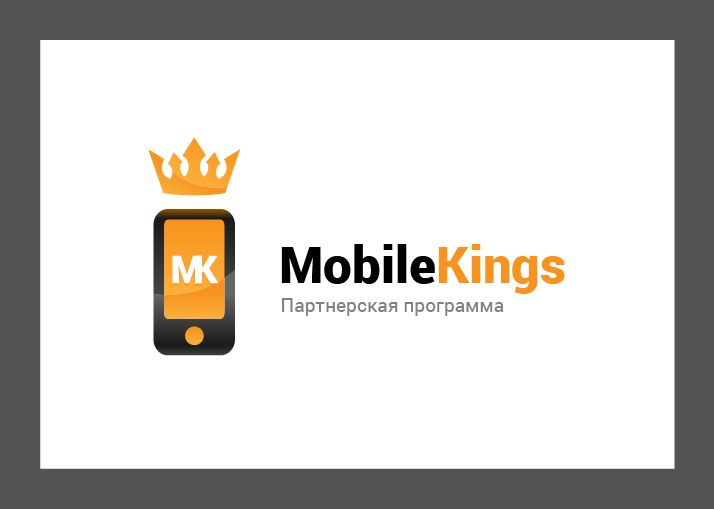 Логотип для партнерской программы MobileKings - дизайнер this_optimism