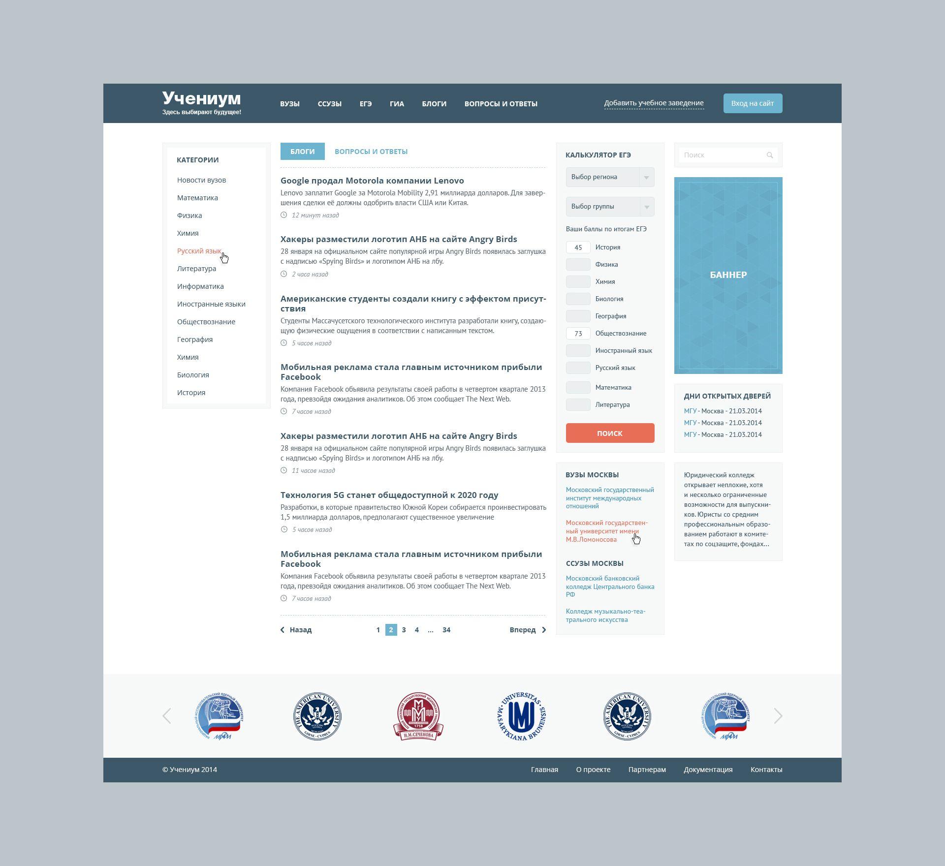 Дизайн для информационного сайта - дизайнер morocco