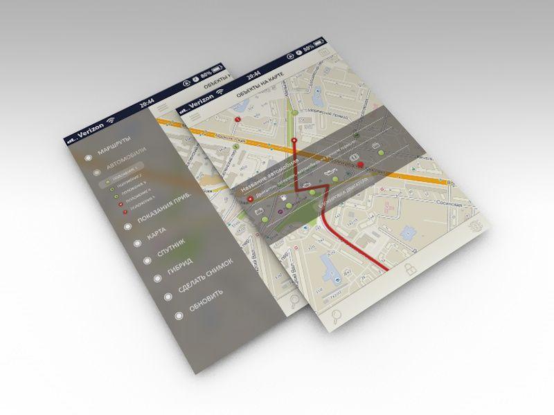 Дизайн мобильного приложения (объекты на карте) - дизайнер djobsik