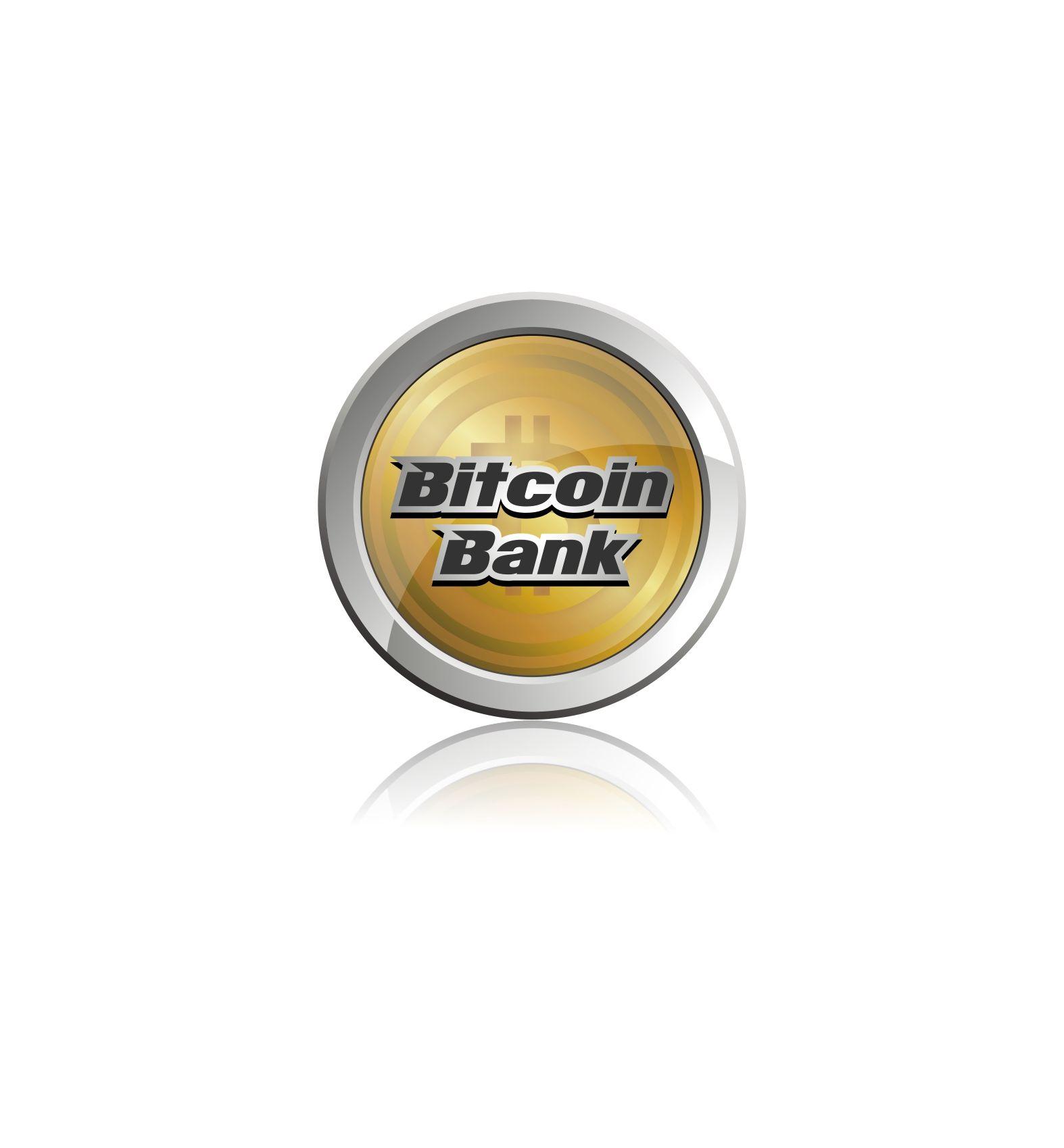 BitcoinBank - Логотип - дизайнер Upright