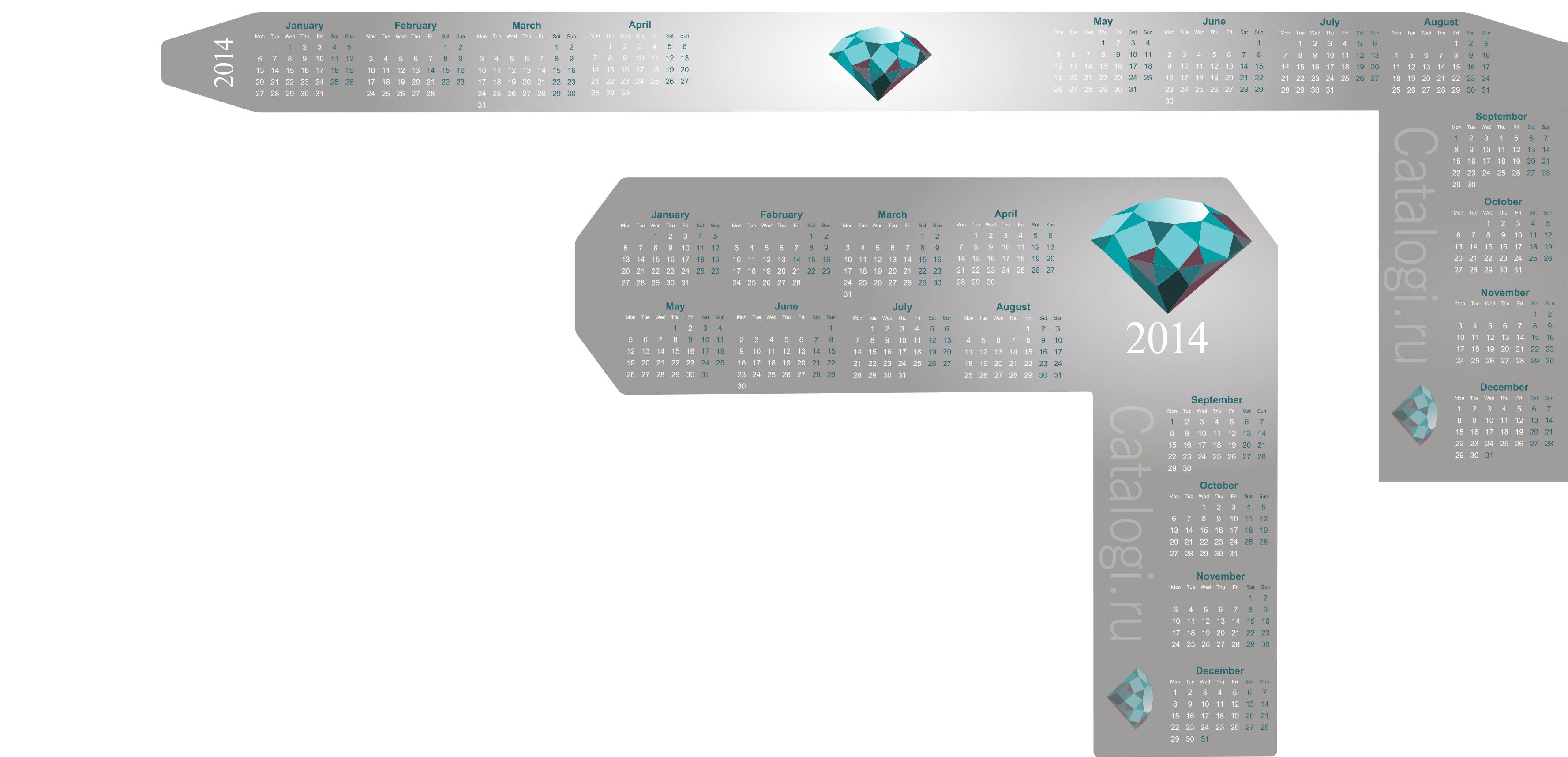 Календарик на монитор Catalogi.ru - дизайнер PasichnayaART