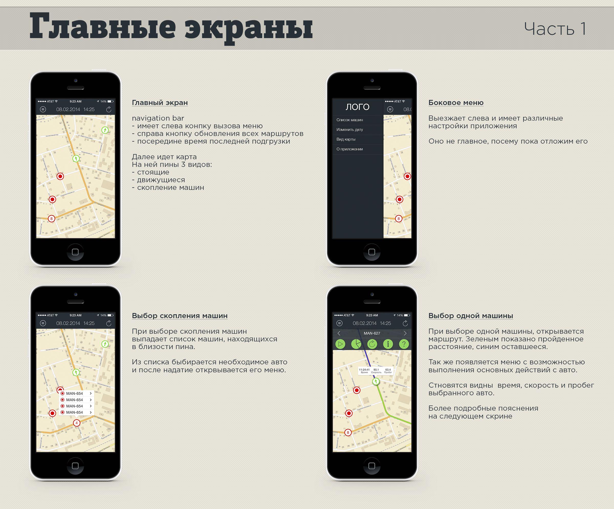 Дизайн мобильного приложения (объекты на карте) - дизайнер ippolitdesing
