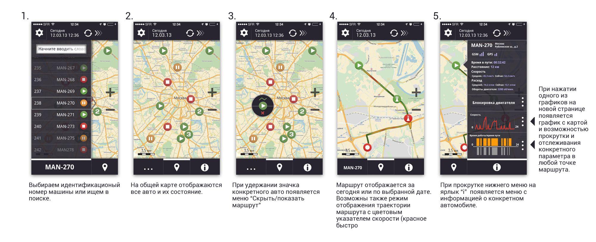 Дизайн мобильного приложения (объекты на карте) - дизайнер Peredvignik