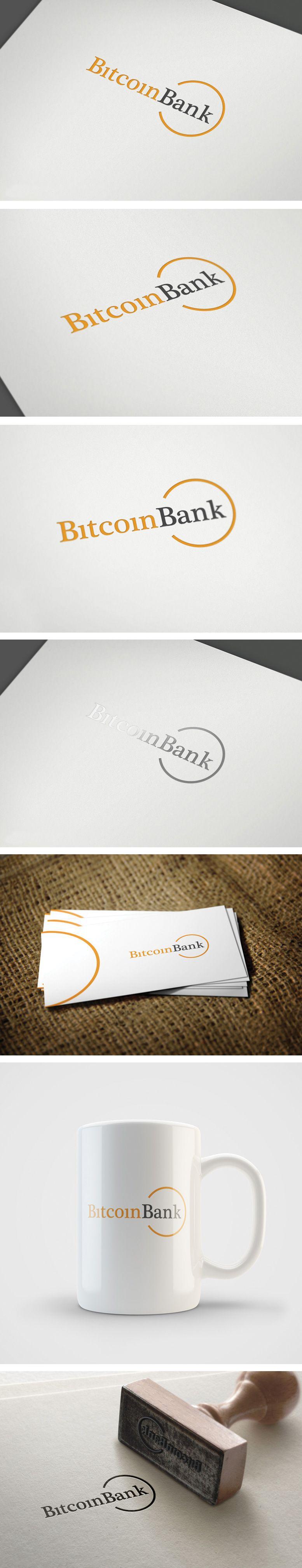 BitcoinBank - Логотип - дизайнер GreenRed