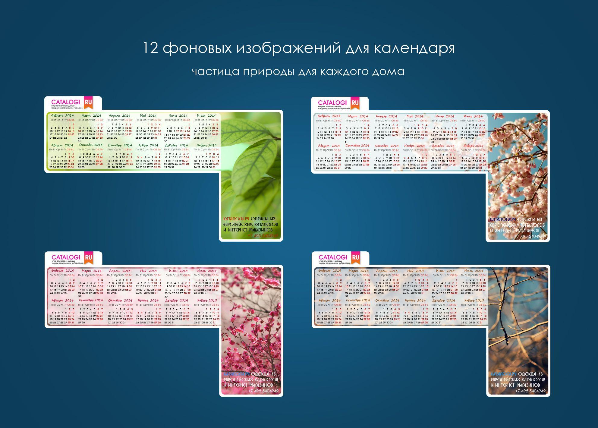 Календарик на монитор Catalogi.ru - дизайнер Erzh2n