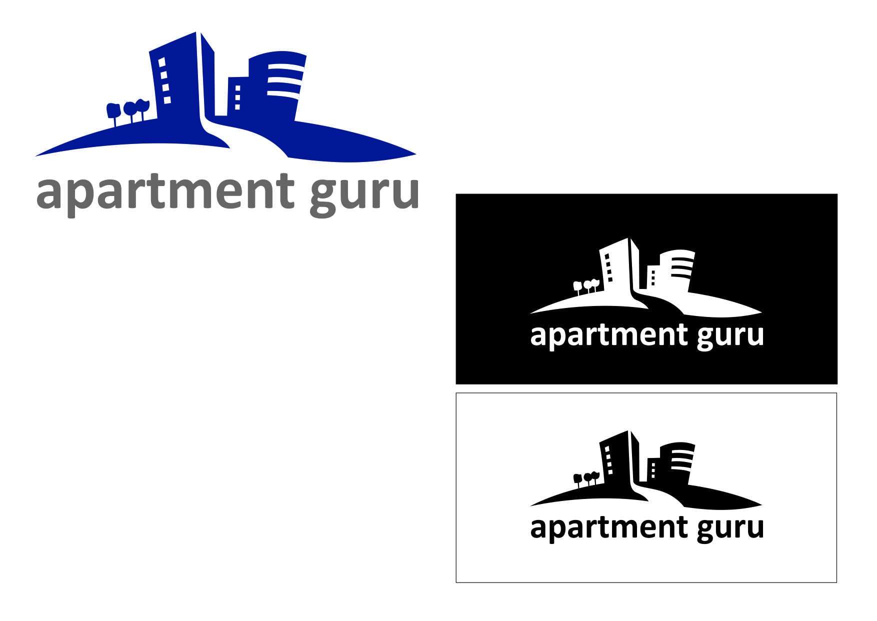 Дизайн логотипа сайта apartment guru - дизайнер semyonova
