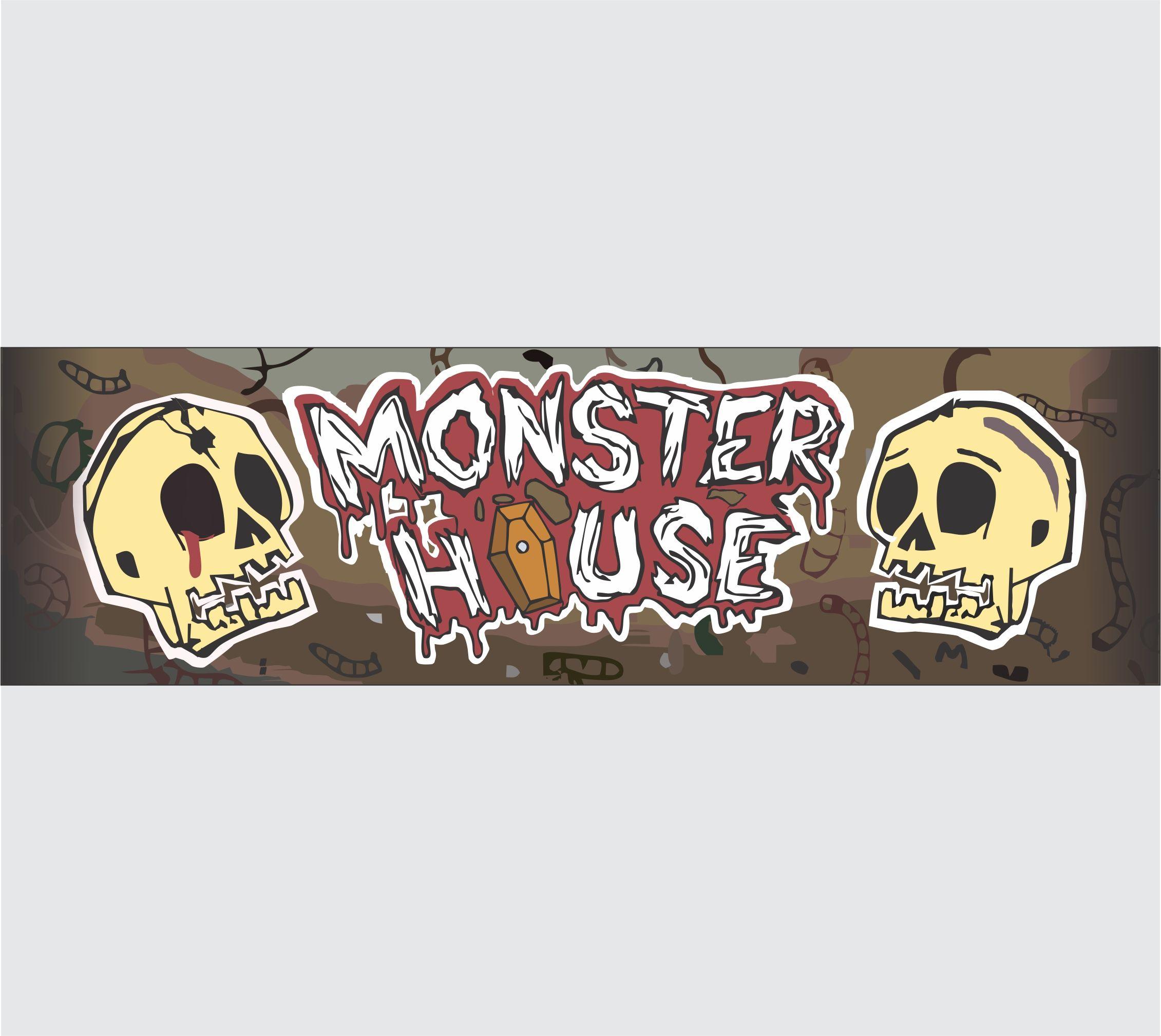 Рекламный баннер для комнаты страха - дизайнер VOLDKA