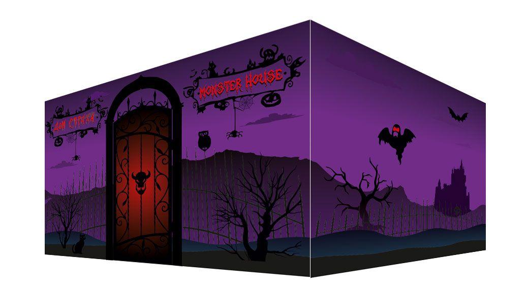 Рекламный баннер для комнаты страха - дизайнер Upright