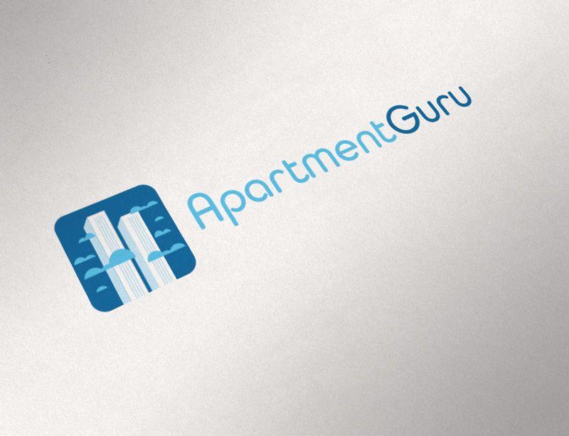 Дизайн логотипа сайта apartment guru - дизайнер ready2flash