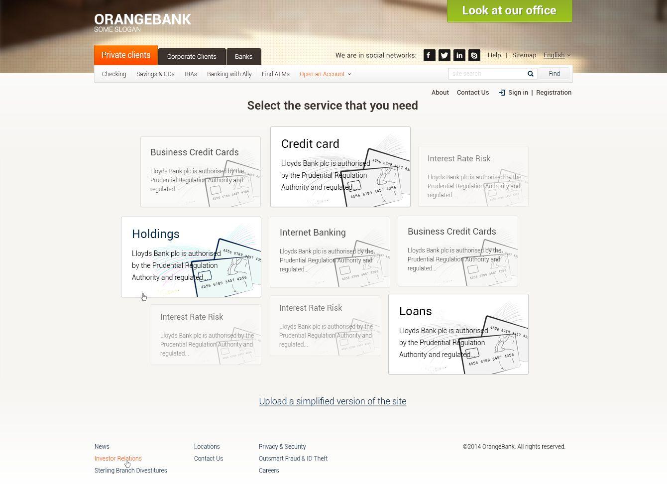 Креативный дизайн Главной страницы Банка - дизайнер qwerty_1