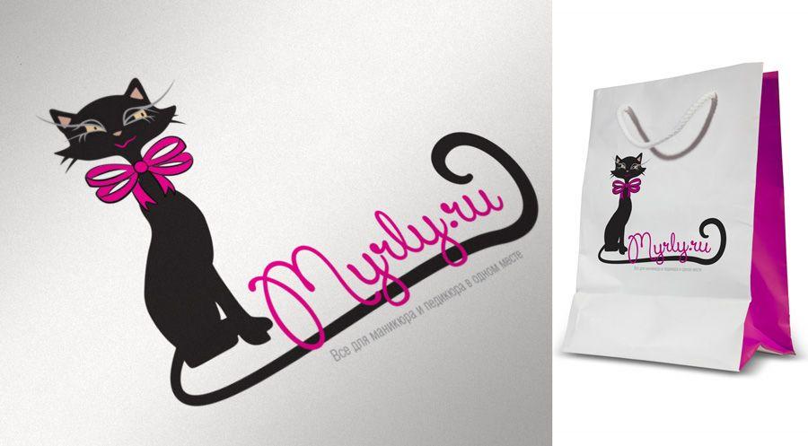 Логотип магазина материалов для наращивания ногтей - дизайнер ready2flash
