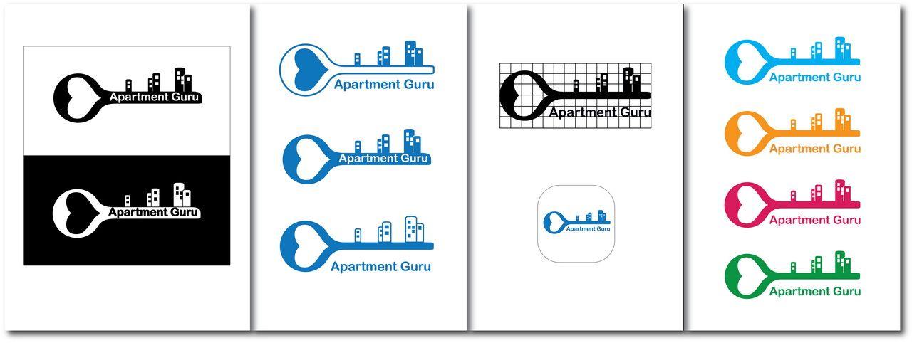 Дизайн логотипа сайта apartment guru - дизайнер lolly7