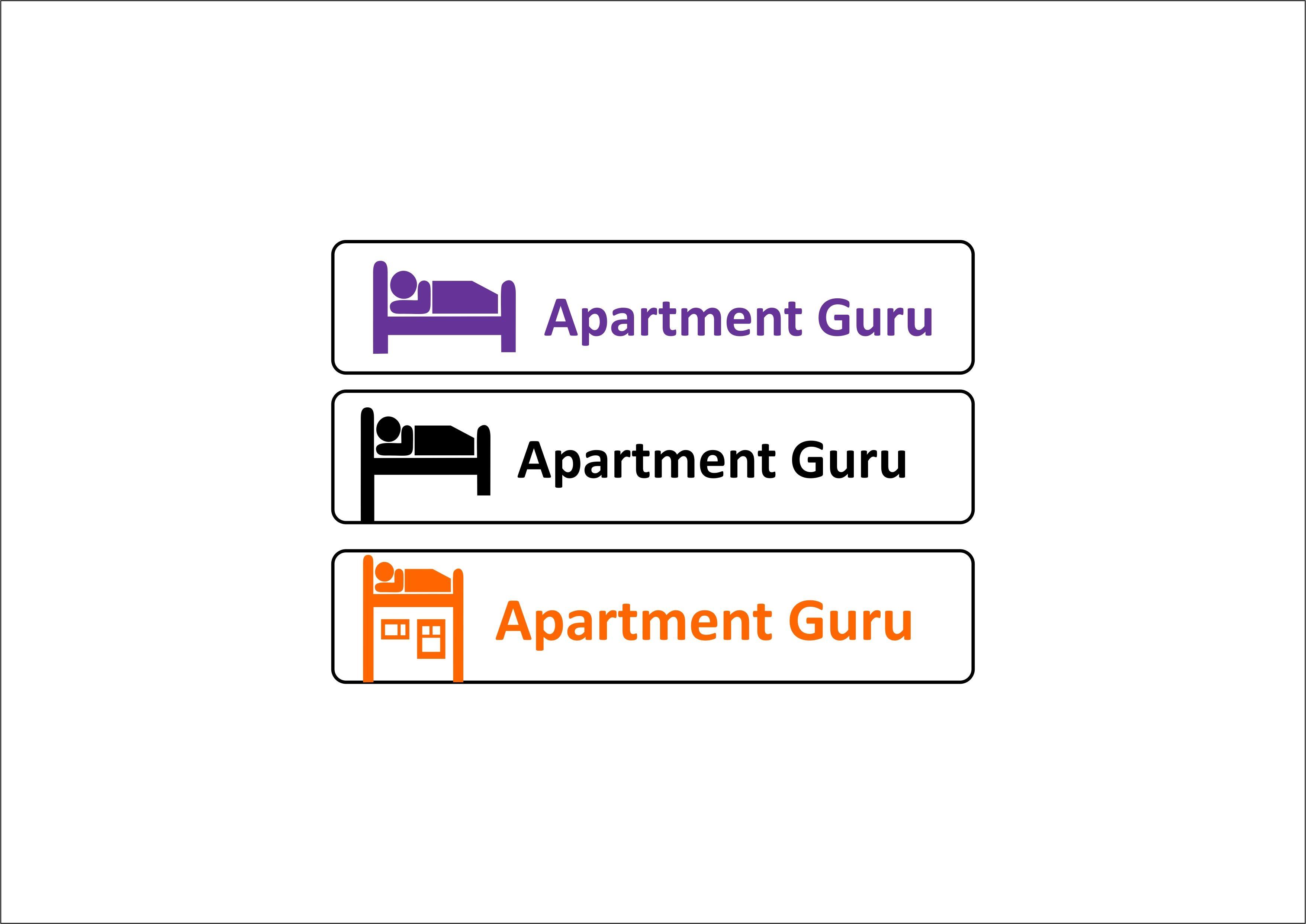 Дизайн логотипа сайта apartment guru - дизайнер CONTRAST