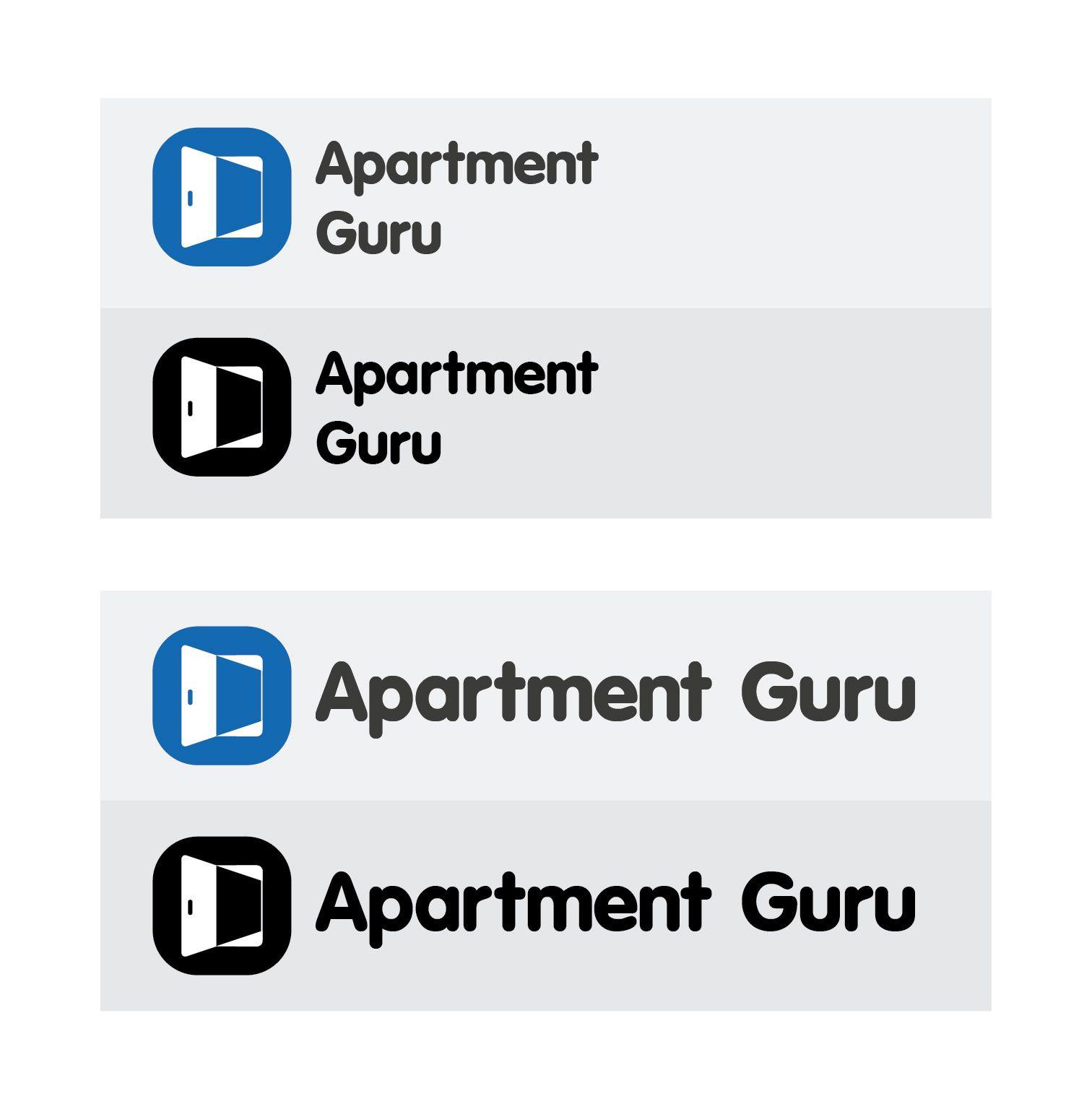 Дизайн логотипа сайта apartment guru - дизайнер Rhythm