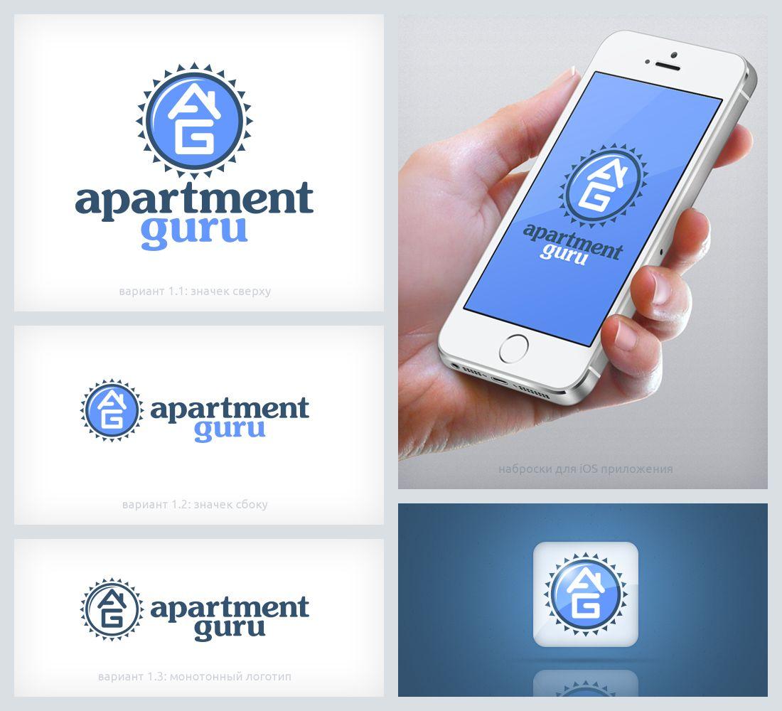 Дизайн логотипа сайта apartment guru - дизайнер MrPartizan