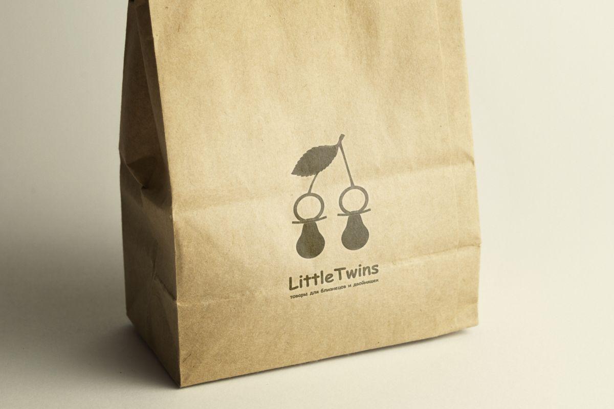 Логотип детского интернет-магазина для двойняшек - дизайнер turboegoist