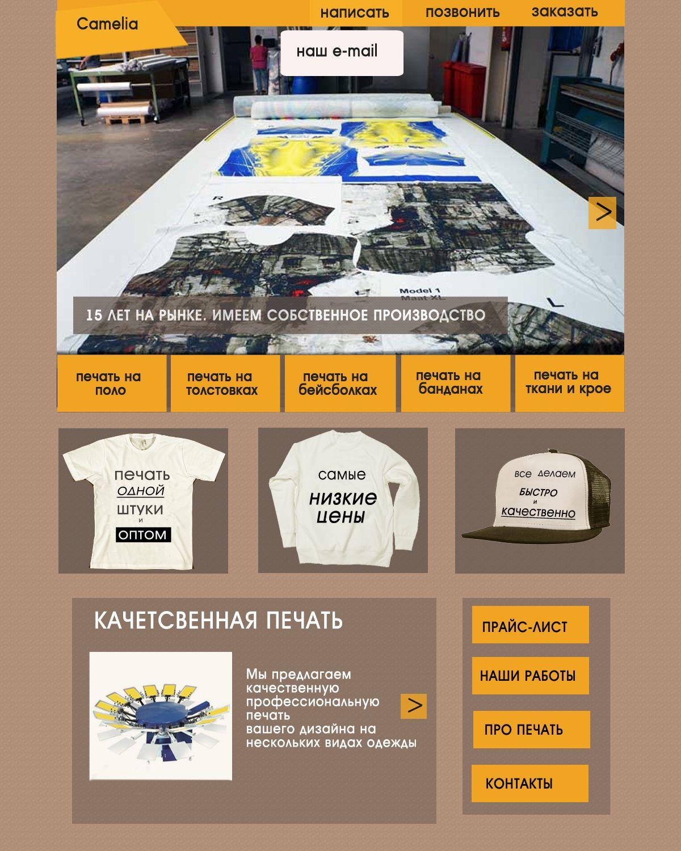 Дизайн главной страницы сайта - дизайнер dan_d