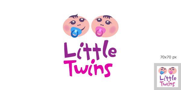 Логотип детского интернет-магазина для двойняшек - дизайнер drobinkin