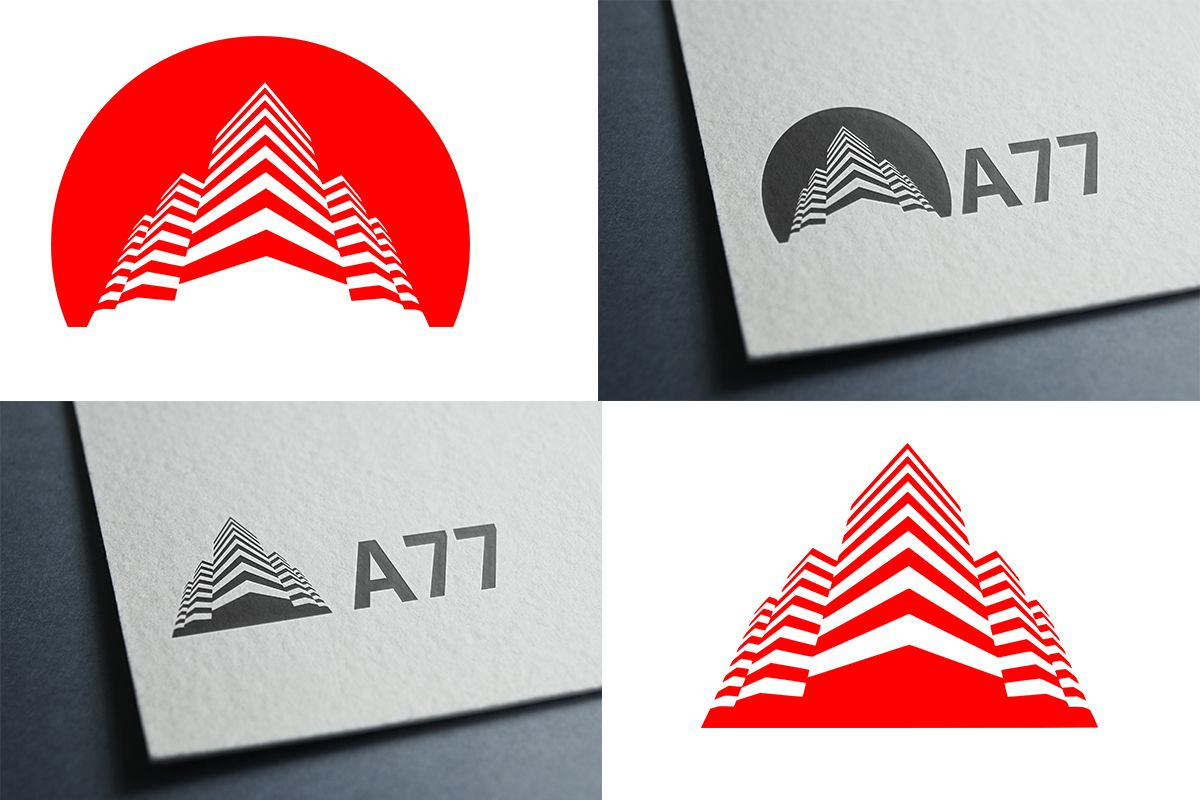 Лого для сайта по коммерческой недвижимости A77.RU - дизайнер turboegoist