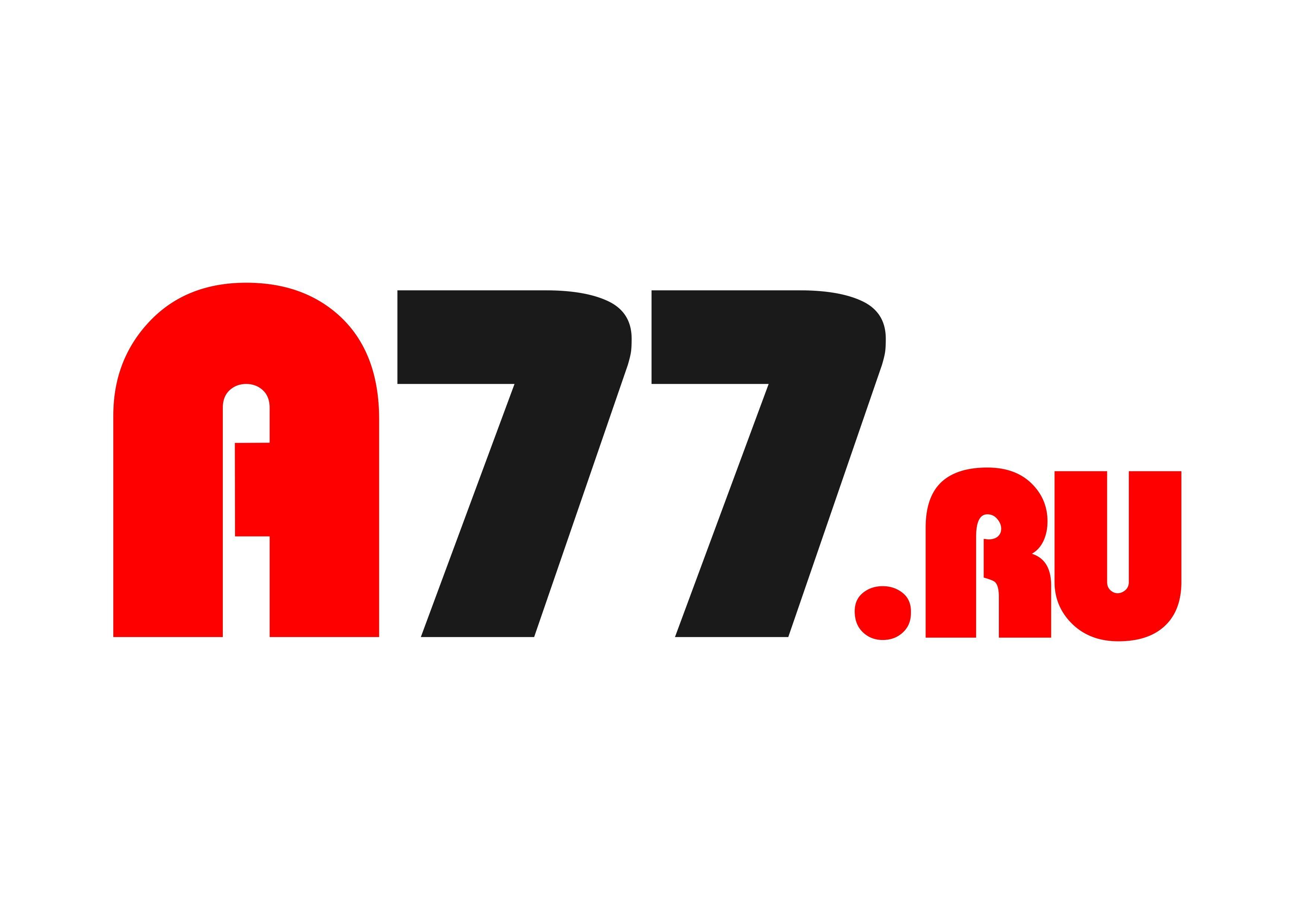 Лого для сайта по коммерческой недвижимости A77.RU - дизайнер Santal