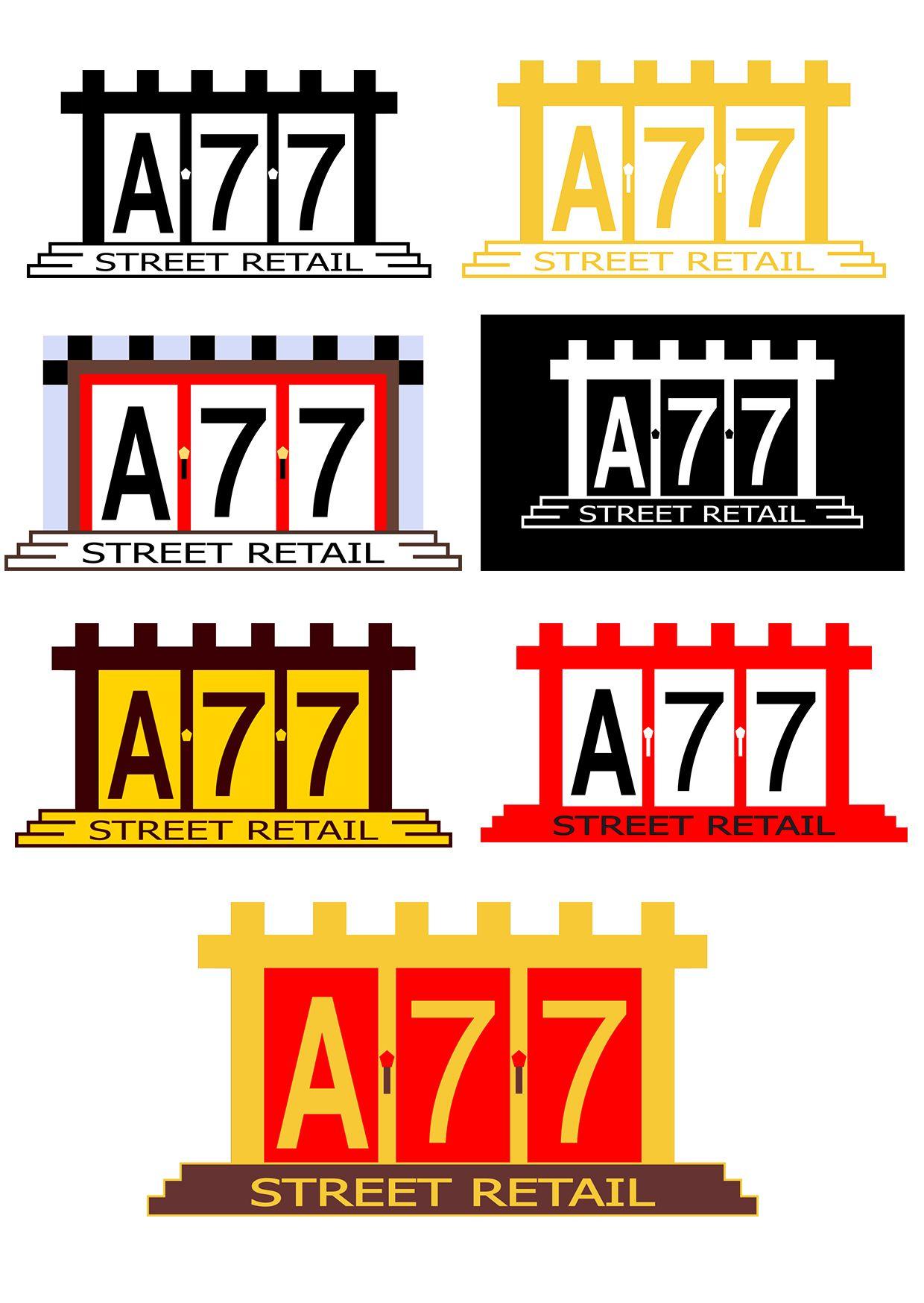Лого для сайта по коммерческой недвижимости A77.RU - дизайнер 216