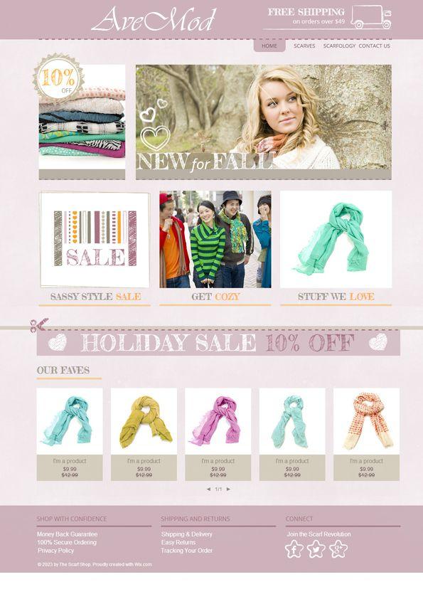 Креативный дизайн интернет магазина женской одежды - дизайнер DesignofBaku