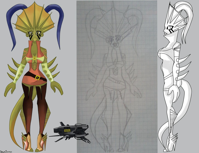 Нужен скетч персонажа для игры - дизайнер DaryaChampi
