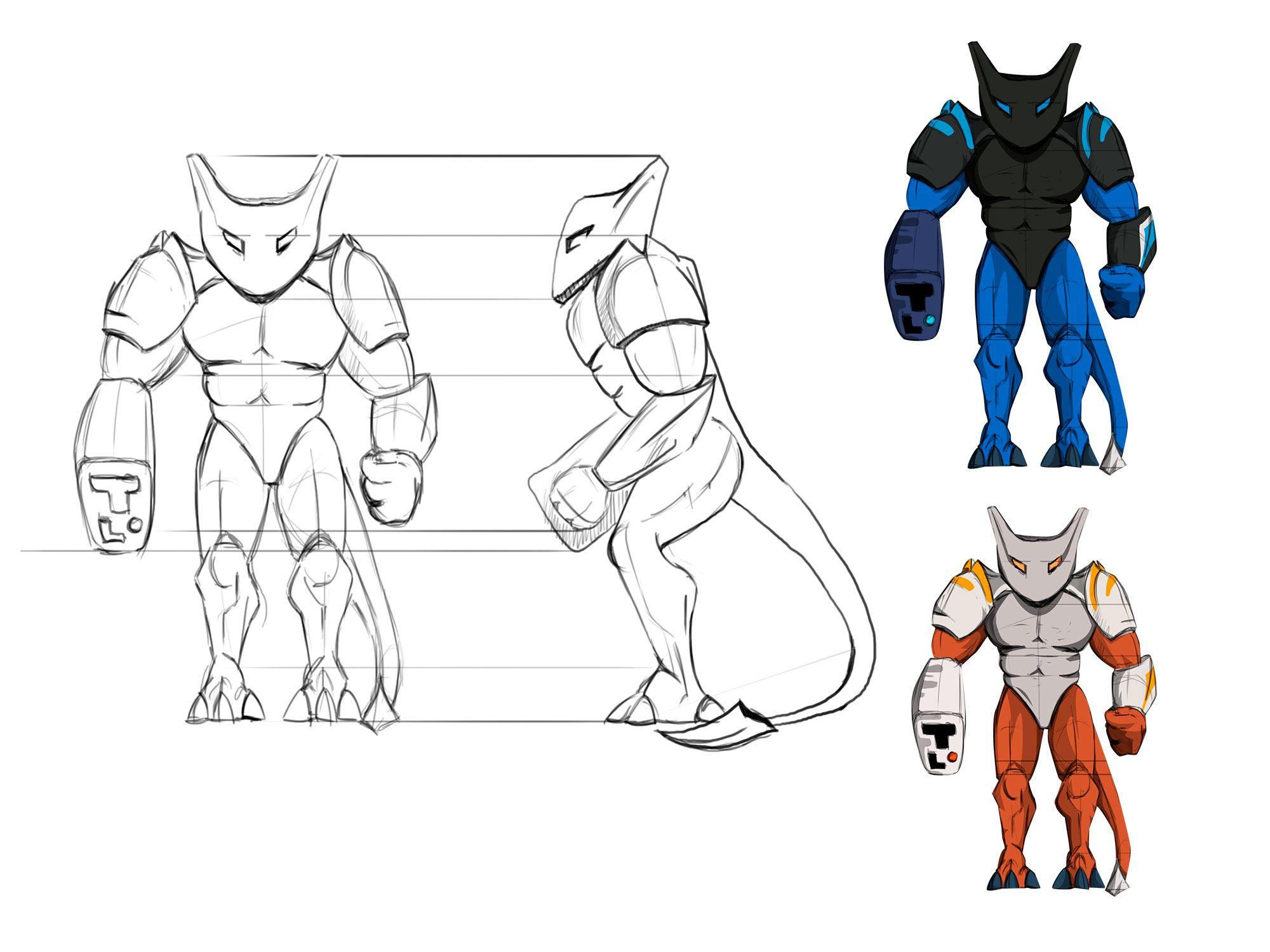 Нужен скетч персонажа для игры - дизайнер Martins206