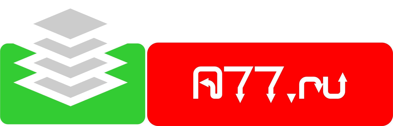 Лого для сайта по коммерческой недвижимости A77.RU - дизайнер visento