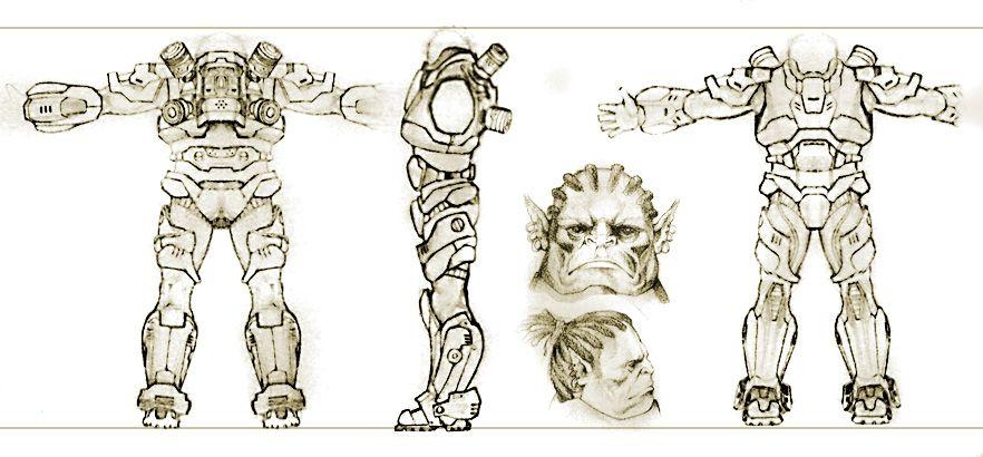 Нужен скетч персонажа для игры - дизайнер grantdizayner