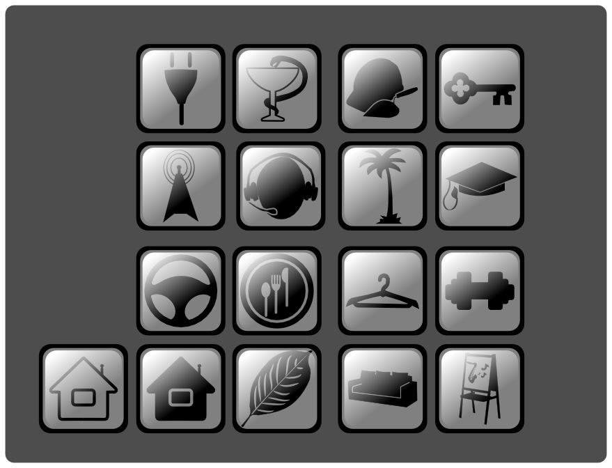 Иконки\кнопки для городского портала - дизайнер raccoon2517