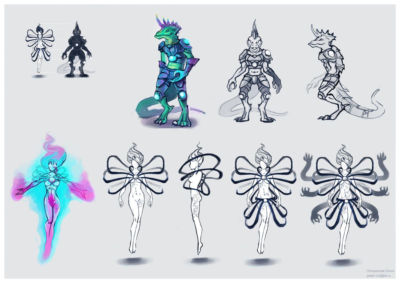 Нужен скетч персонажа для игры - дизайнер drakoncik