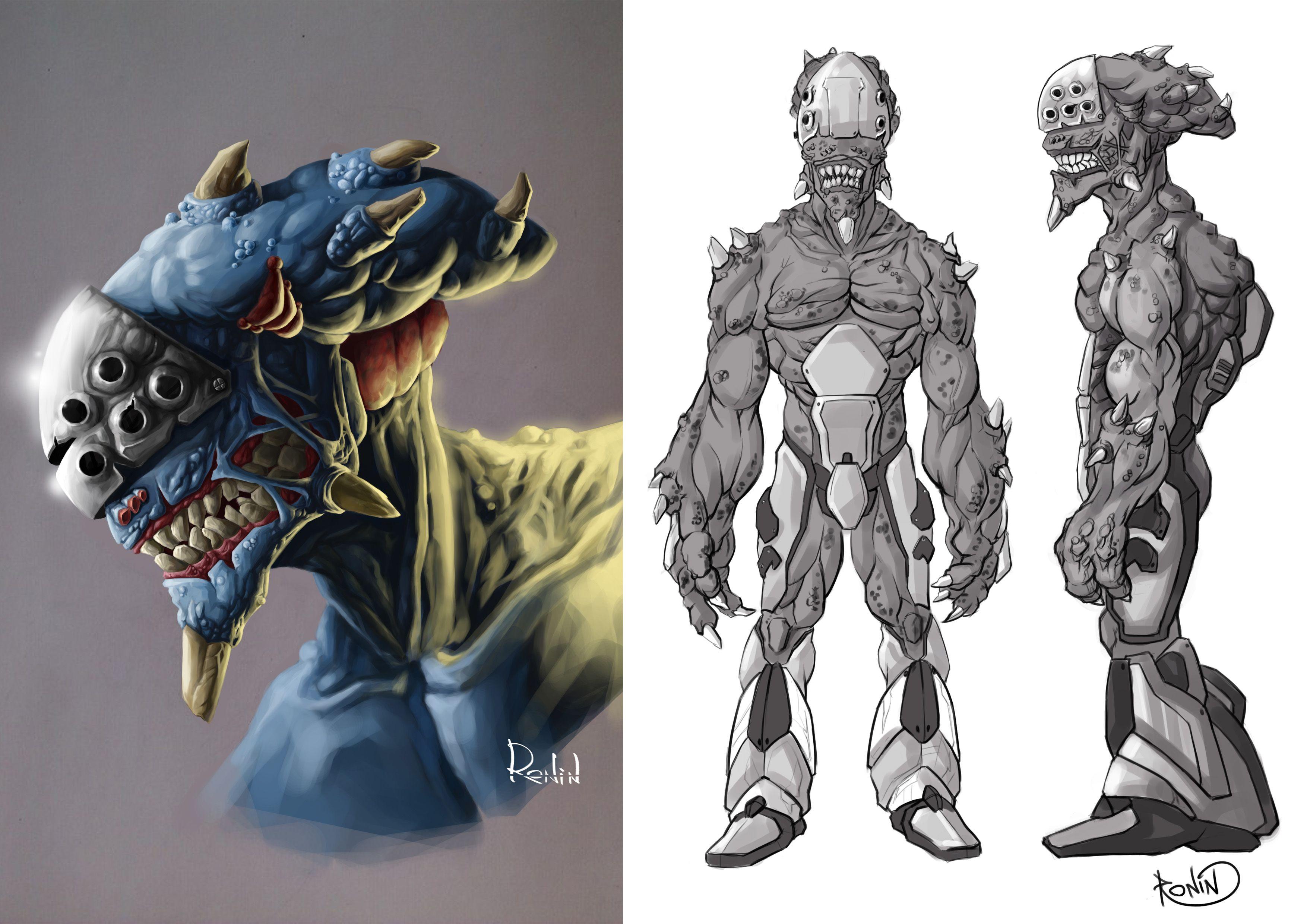Нужен скетч персонажа для игры - дизайнер -Ronin-