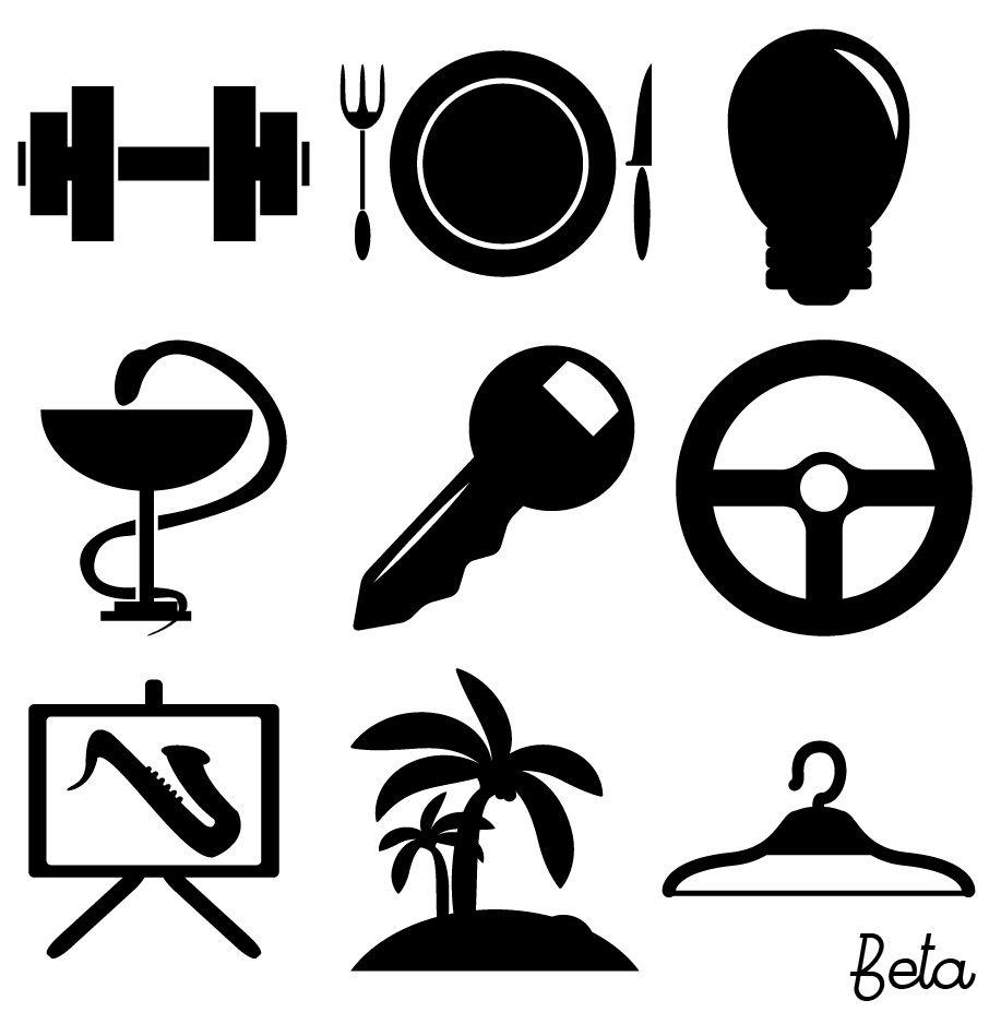 Иконки\кнопки для городского портала - дизайнер He6yhigh