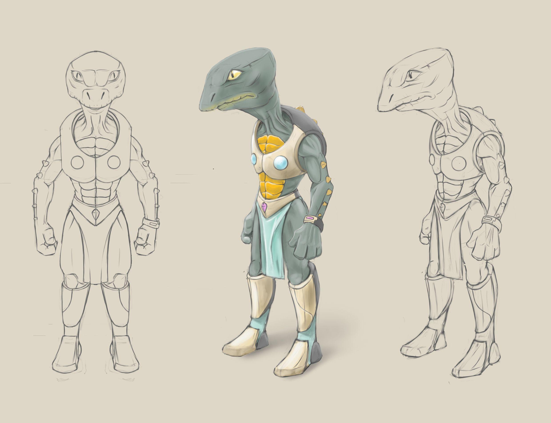Нужен скетч персонажа для игры - дизайнер bonn-y