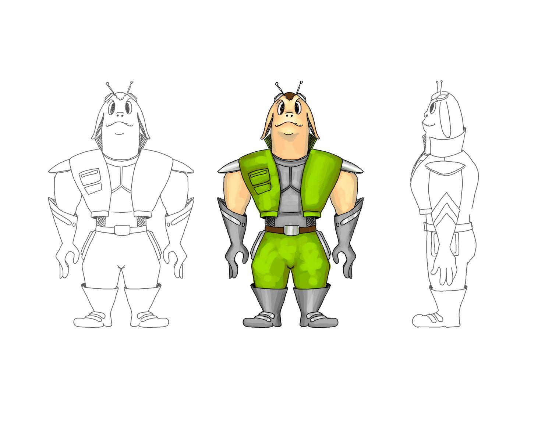 Нужен скетч персонажа для игры - дизайнер qutel