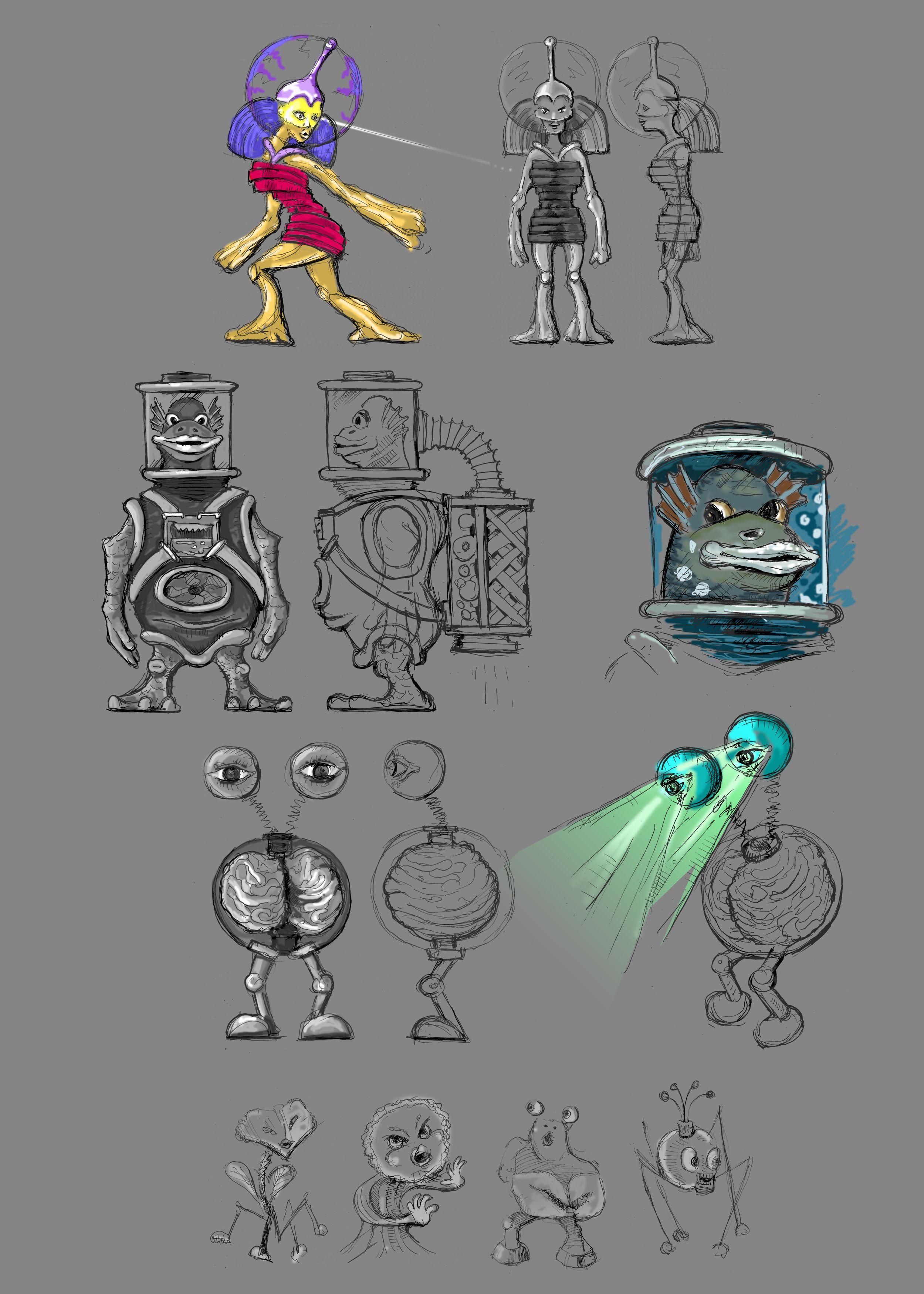 Нужен скетч персонажа для игры - дизайнер soundgraph