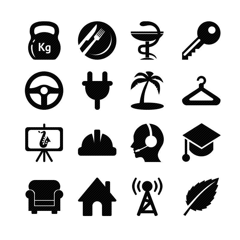 Иконки\кнопки для городского портала - дизайнер richiksv