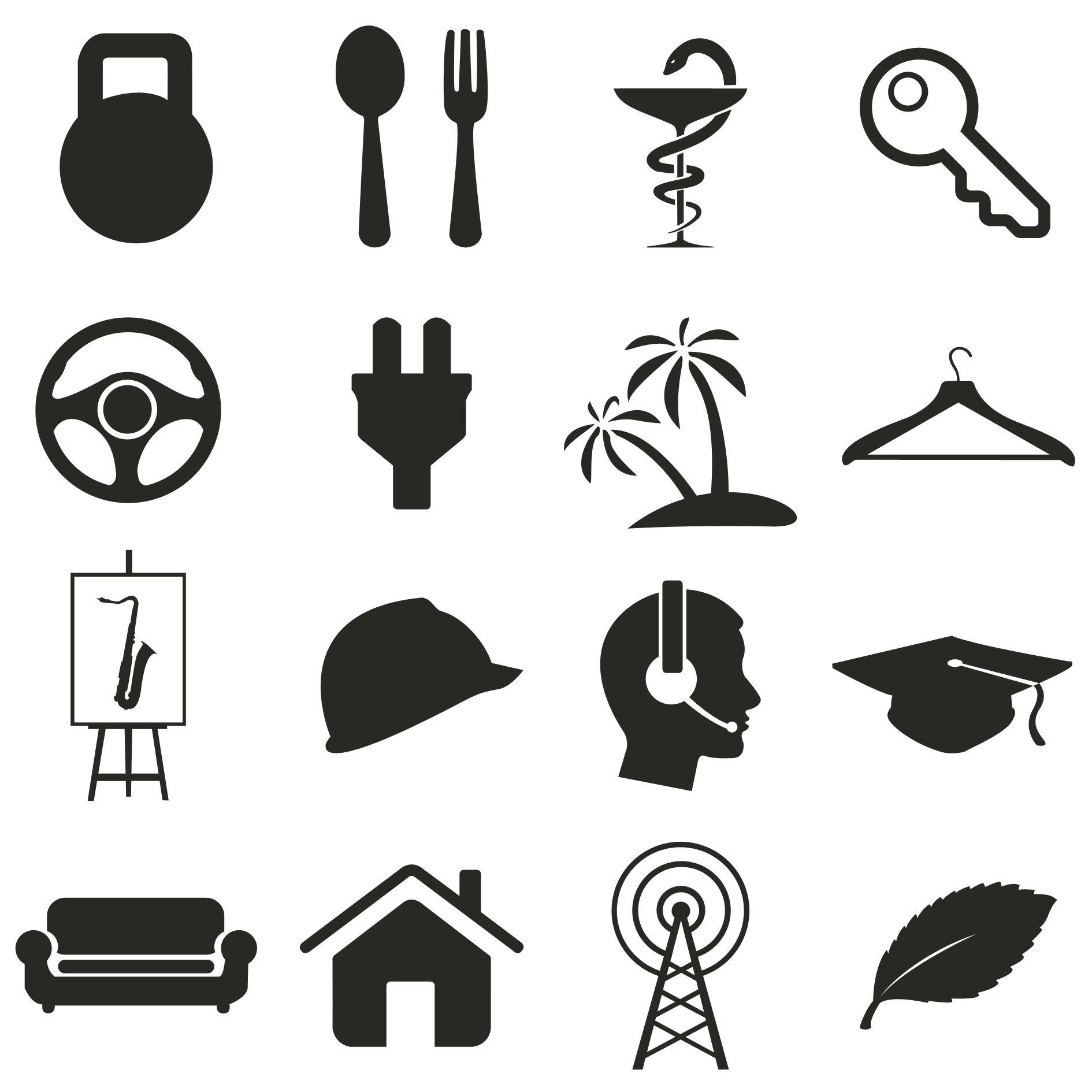 Иконки\кнопки для городского портала - дизайнер Kapitane