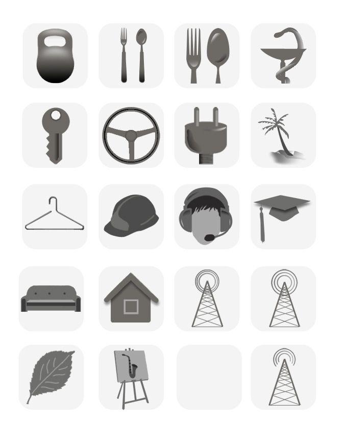 Иконки\кнопки для городского портала - дизайнер YoseiMai