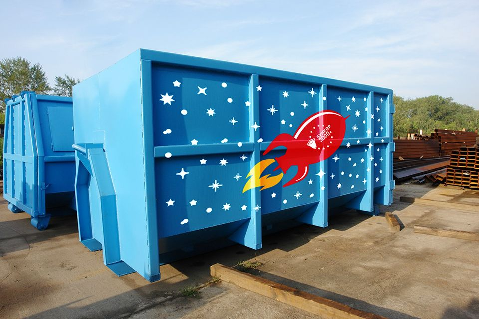 Шаблон раскраски мусорных контейнеров и бункеров - дизайнер jennylems