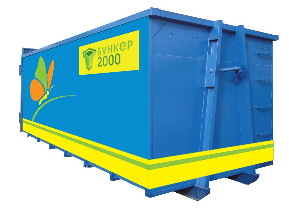 Шаблон раскраски мусорных контейнеров и бункеров - дизайнер ekaz