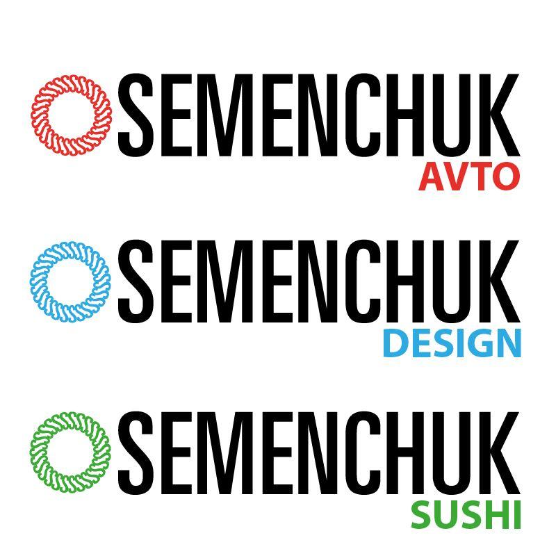 Логотип группы компаний SEMENCHUK - дизайнер alpine-gold