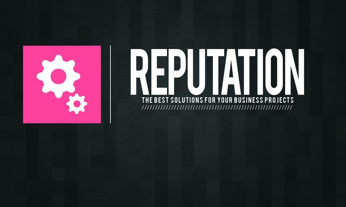 Логотип, визитка и шаблон презентации Reputation - дизайнер dimakovalev
