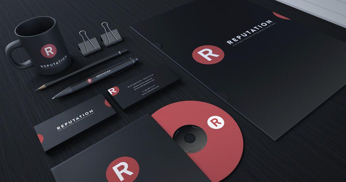 Логотип, визитка и шаблон презентации Reputation - дизайнер Milufon