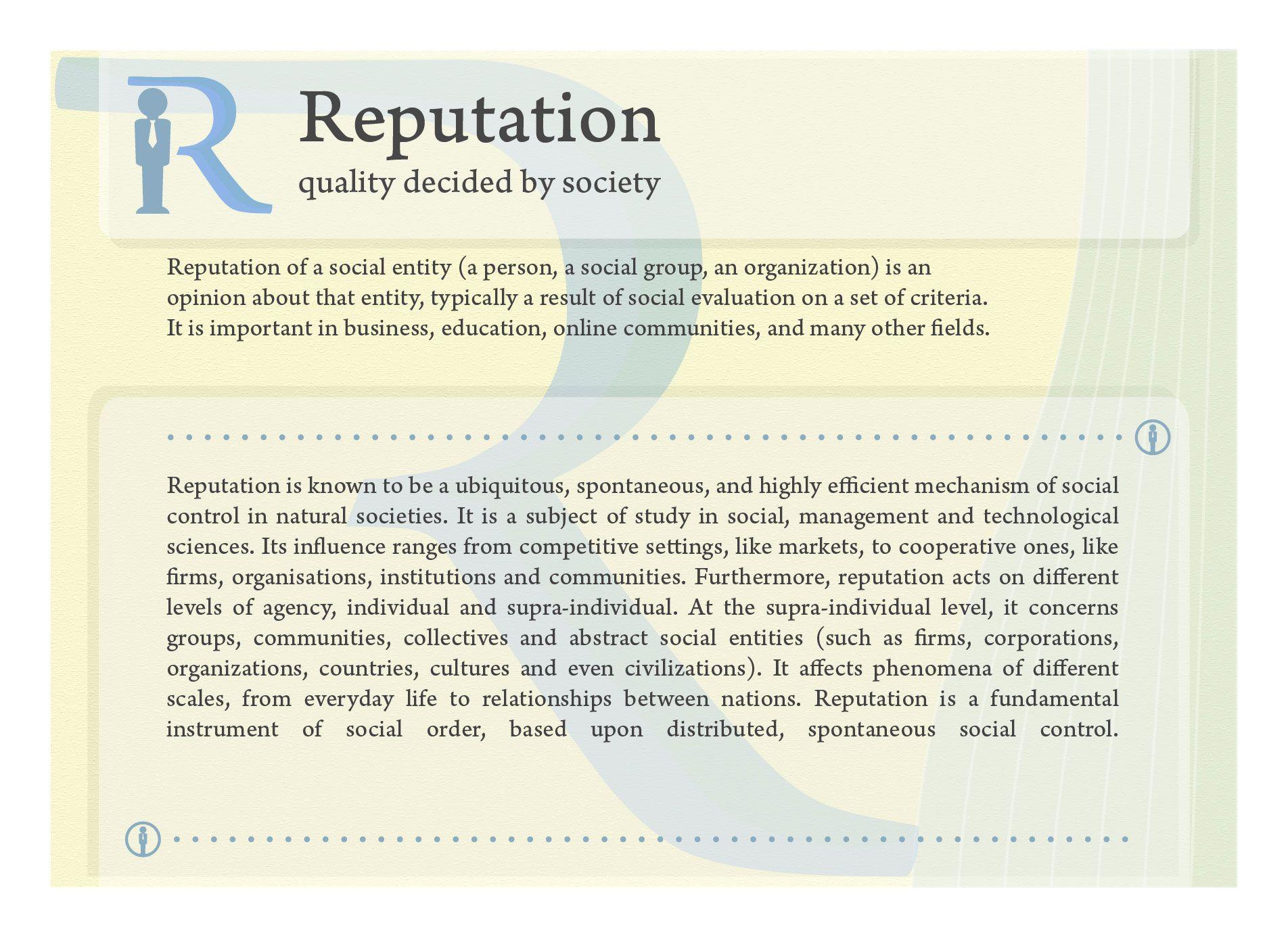 Логотип, визитка и шаблон презентации Reputation - дизайнер esby_correl
