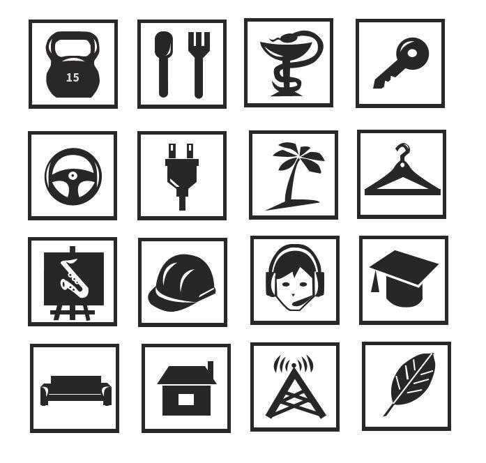 Иконки\кнопки для городского портала - дизайнер Irina_Strel